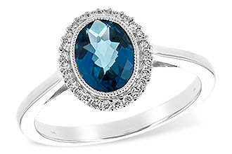 A244-01747: LDS RG 1.27 LONDON BLUE TOPAZ 1.42 TGW