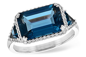 A244-93583: LDS RG 4.60 TW LONDON BLUE TOPAZ 4.82 TGW