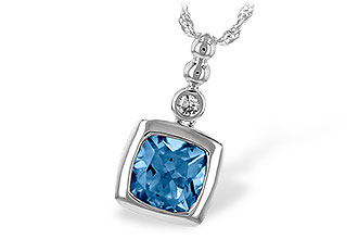 B244-05401: NECK 1.45 BLUE TOPAZ 1.49 TGW