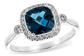 C244-01747: LDS RG 1.62 LONDON BLUE TOPAZ 1.78 TGW