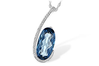 D244-01810: NECK 4.48 LONDON BLUE TOPAZ 4.60 TGW