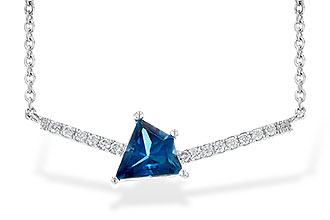 D244-98101: NECK .87 LONDON BLUE TOPAZ .95 TGW