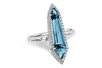 E244-92674: LDS RG 2.20 LONDON BLUE TOPAZ 2.41 TGW