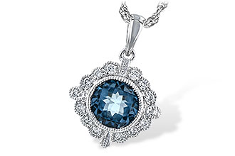 G244-03592: NECK .98 BLUE TOPAZ 1.10 TGW
