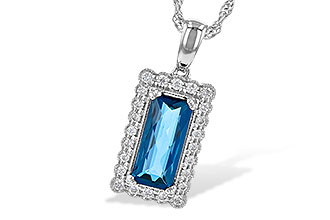 G244-99010: NECK 1.55 LONDON BLUE TOPAZ 1.70 TGW