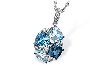 H244-01728: NECK 2.60 BLUE TOPAZ 2.70 TGW