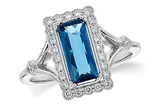 H244-97255: LDS RG 1.58 LONDON BLUE TOPAZ 1.75 TGW