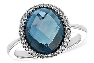 K244-02646: LDS RG 5.31 LONDON BLUE TOPAZ 5.45 TGW