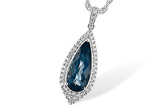 L244-03555: NECK 2.40 LONDON BLUE TOPAZ 2.65 TGW