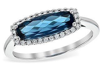 L244-96346: LDS RG 1.79 LONDON BLUE TOPAZ 1.90 TGW