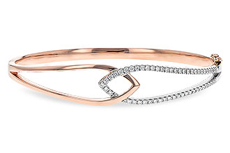M244-08164: BANGLE BRACELET .50 TW (ROSE & WG)