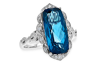 M244-92637: LDS RG 6.75 LONDON BLUE TOPAZ 6.90 TGW